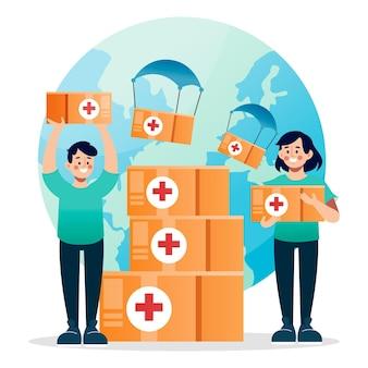 Gradient world humanitarian day illustration