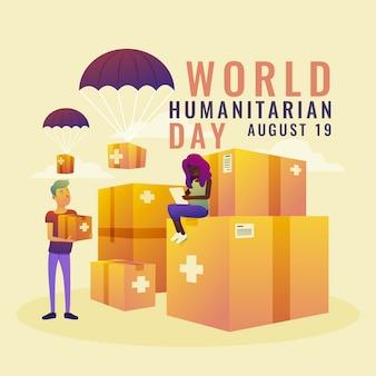 Градиент всемирный гуманитарный день иллюстрация