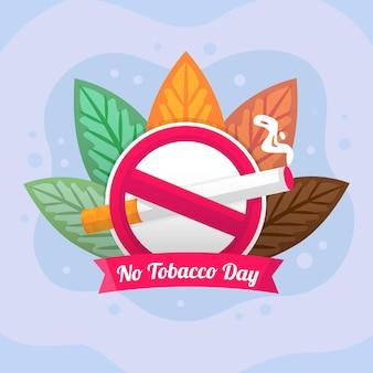 Illustrazione della giornata mondiale senza tabacco gradiente