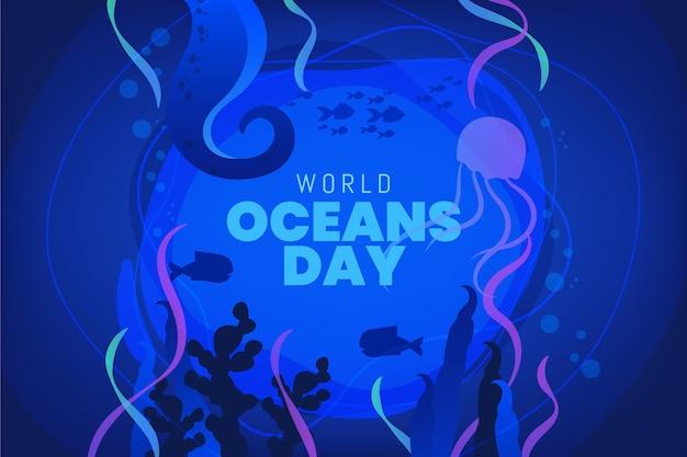 Градиент всемирный день океанов иллюстрация