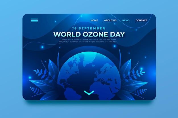 그라데이션 세계 오존의 날 방문 페이지 템플릿