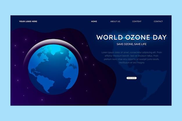 Шаблон целевой страницы градиентный всемирный день озона