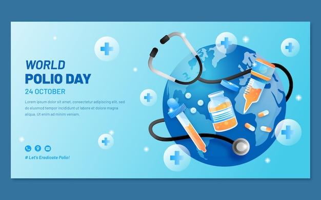 Modello di post sui social media per la giornata mondiale della polio sfumata