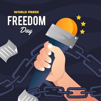 Градиент всемирный день свободы прессы