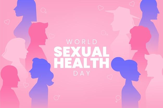 グラデーションの世界の性的健康の日の背景