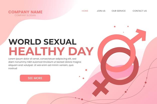 Шаблон целевой страницы градиента всемирного дня сексуального здоровья