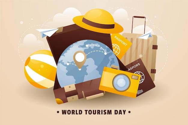 Sfondo della giornata mondiale del turismo sfumato