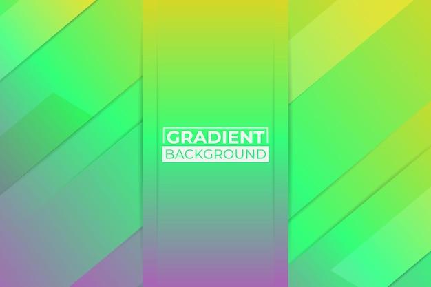 Градиент желтый, зеленый и фиолетовый фон