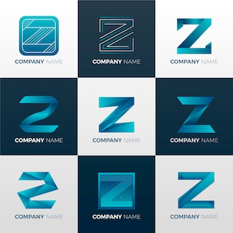 Gradient #z letter logo collection