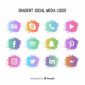 Gradient логотип в социальных сетях