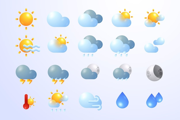 Gradients weather icons for apps collection
