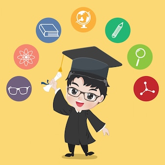 Graduated boy.