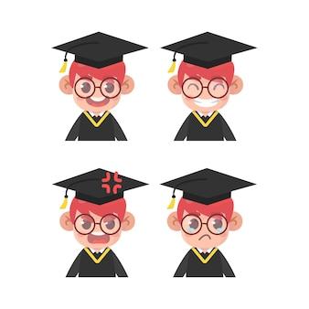 졸업생 얼굴 표정 세트