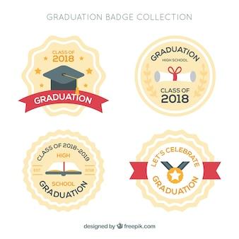 フラットスタイルの卒業バッジコレクション