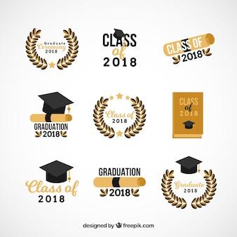 卒業バッジコレクション