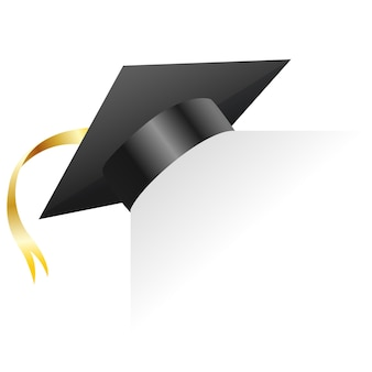 Graduation cap. element for degree ceremony and educational programs