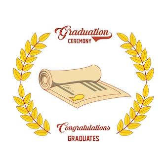 ディプロマアイコン付きの卒業証書