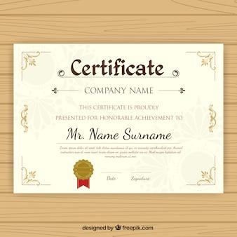 Certificato di laurea con decorazioni ornamentali