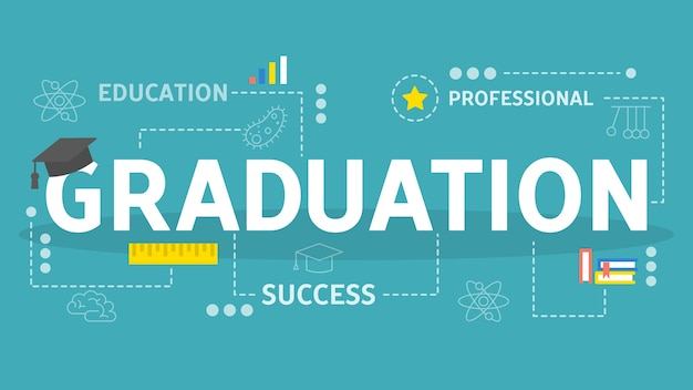 Graduation concept. idea of education and knowledge