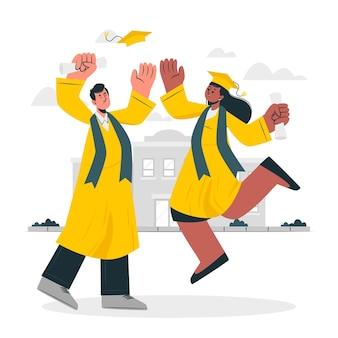 Illustrazione del concetto di laurea