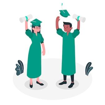 Graduation concept illustration