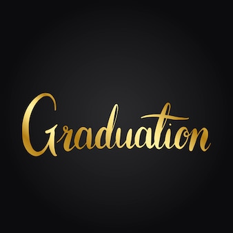 Graduation concept typography style vector