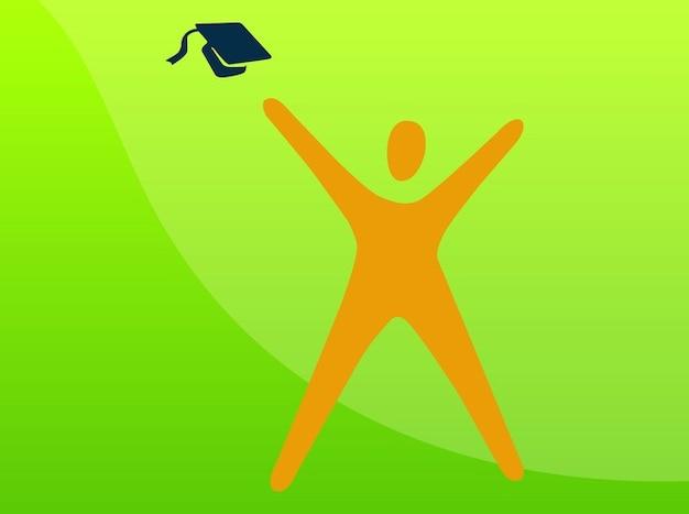 Graduation education icon vector pack