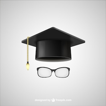 Graduation hat and glasses