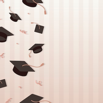 Graduation hats frame