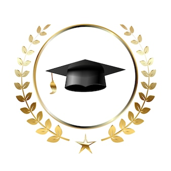 Graduation logo template design elements.