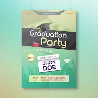 Graduation party celebration 2018 invitation