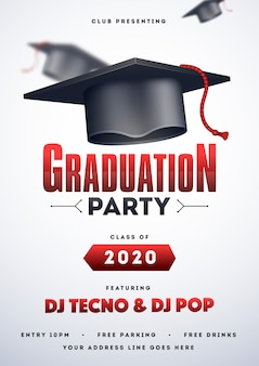 Graduation party flyer.