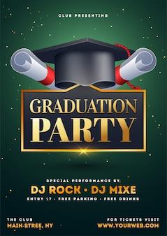 Graduation party flyer.