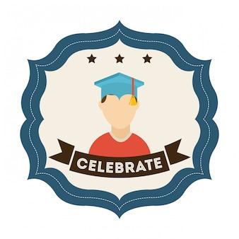 Graduation over white background
