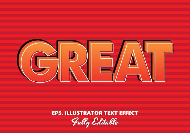 Graet редактируемый текстовый эффект