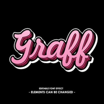 Graff font effect with colored shadow