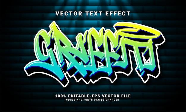 그래피티 3d 텍스트 효과, 편집 가능한 텍스트 및 다채로운 텍스트 스타일