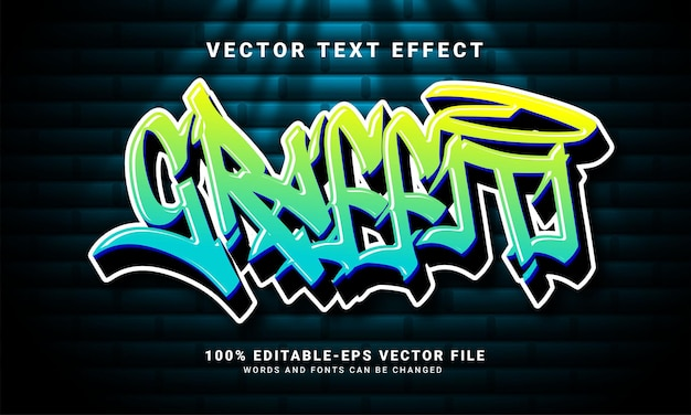 Graffiti 3d text effect, editable text and colorful text style