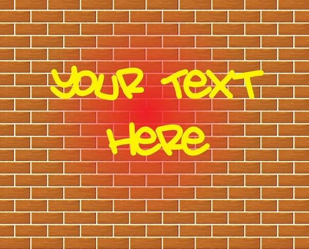Graffiti brick wall drawing vector