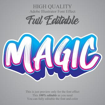 Graffiti brush style editable font effect