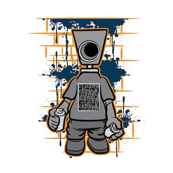 Graffiti character for t shirt design