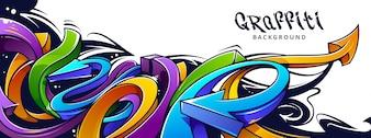 Graffiti design on wall