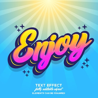 Graffiti font effect with smooth texture and trendy gradient