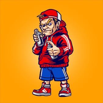 Graffiti maker character