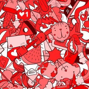 Граффити образец с иконками линии городского образа жизни. сумасшедший рисунок абстрактный фон вектор. коллаж в модном линейном стиле с причудливыми элементами уличного искусства.