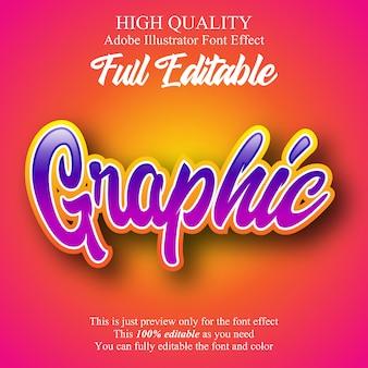 Graffiti script style editable font effect
