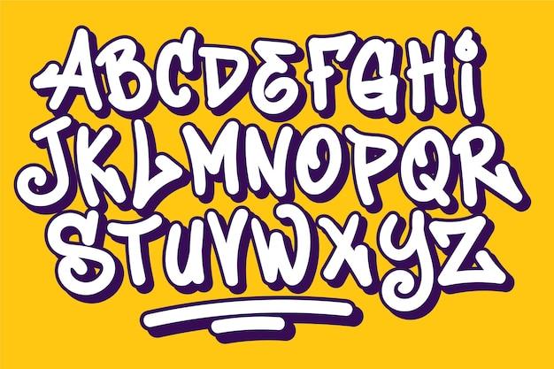 Alfabeto in stile graffiti