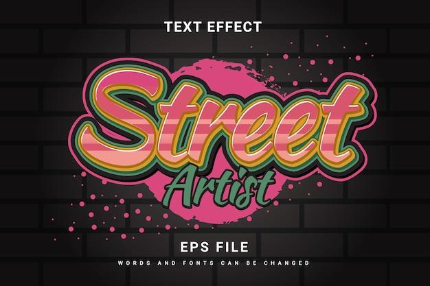 Graffiti style text effect