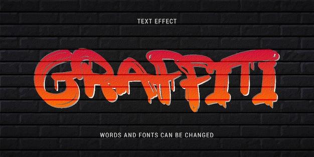 Текстовый эффект граффити редактируемый eps cc