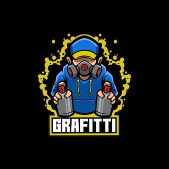 グラフィティスプレーヤーアーティストのクリエイティビティドリップリーク